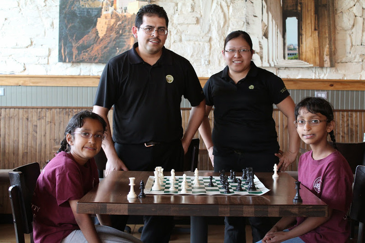 Taziki's owners Rodrigo and Blanca Torres host Summer Girls Chess Night